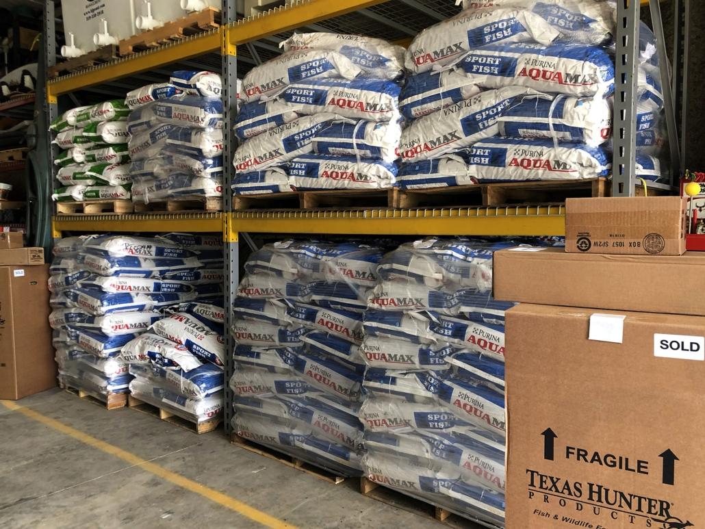 Aquamax Inventory - Full Shelves
