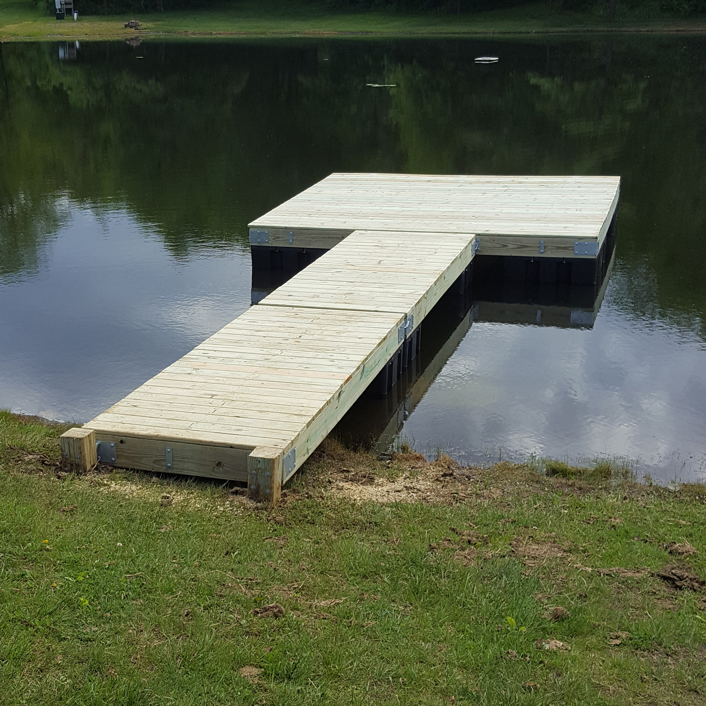 Dock kits 12 x 12 now on sale bjornsen pond management for Pond stocking fish for sale