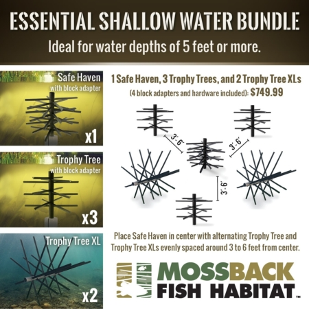 Mossback Essential Shallow Water Bundle Layout