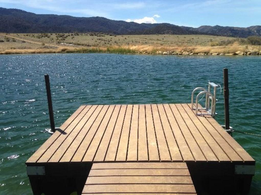 Dock Swim Platform Kit – 12-ft x 12-ft (optional ladder shown)